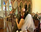 Screenshot of Donna & Kevin Penllergaer Wedding video