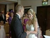 Screenshot of Leanne and Scott Llanelli Wedding video