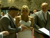 Screenshot of Rebecca and Dafydds` Cardiff Wedding video