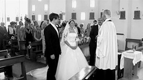 Wedding photo of Caroline and Michael