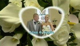 Wedding photo of Natalie and Adam